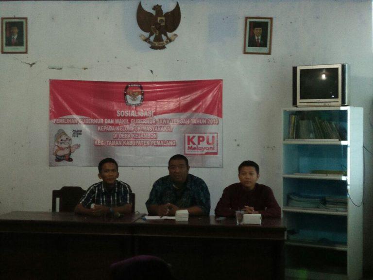 Sosialisasi PILGUB  Jawa Tengah Tahun 2018 untuk Desa Kejambon